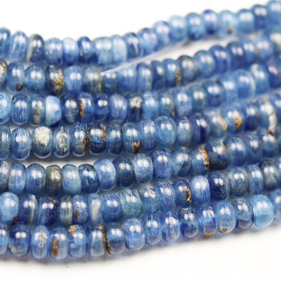 Kyanite, 6mm Blue Rondell Gemstone Strand, 15.5inch, about120beads, 0.8mm hole-GEM2165