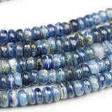 Kyanite, 8mm Blue Rondell Gemstone Strand, 15.5inch, about100beads, 0.8mm hole-GEM2166