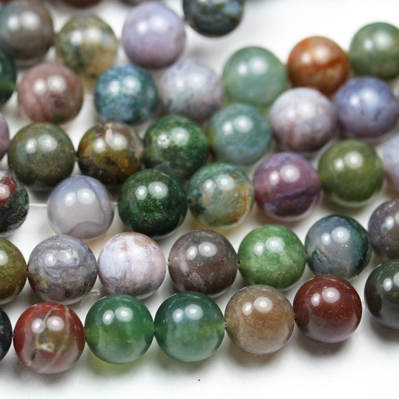 Indian Agate, 10mm Round Agate Gemstone Beads Strand, 16inch, hole 1mm, about 40beads -GEM2220