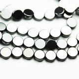 "Hematite,6mm Button Shape Gemstone beads, hole 1mm,16"", about 70beads-GEM2068"