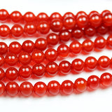 Carnelian, 6mm Round Gemstone Beads Strand, One full strand , hole0.8mm, 16 inch -GEM1819
