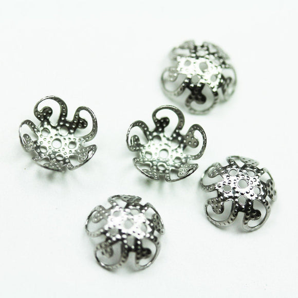 15pcs Stainless steel 10mm Bead cap Jewellery Findings ,10x4mm cap,1mm hole -FDBC0232