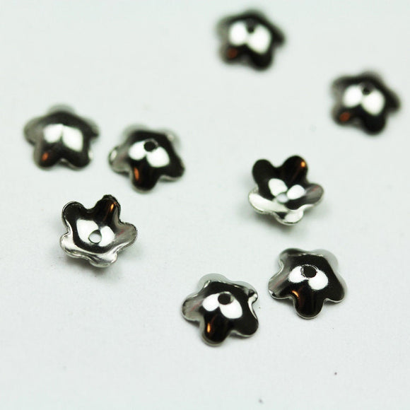 30pcs Stainless steel 6mm Flower Bead cap Jewellery Findings ,6*2 mm cap,0.6mm hole -FDBC0235