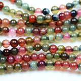 Dyed Agate, 5mm Colorful Round Gemstone Strand, One full strand , about 75 bead,0.8mm hole-GEM2226