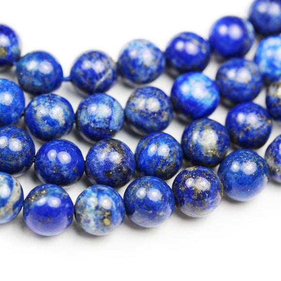 Lapis lazuli, 10mm round natural gemstone, One full strand  , hole 1mm,16
