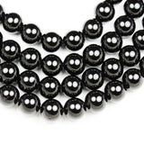 "Black Tourmaline ,10mm Natural Round Gemstone Beads,One Full strand , about 40 beads,1mm hole 16""-GEM1428"