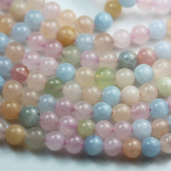 Mixed gemstone, 6mm Aquamarine, rose quartz and Aventurine round Mixed Gemstone , One full strand 15.5