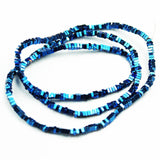 "Hematite,2.3*1mm Electroplated Blue Color Square Disco Shape Gemstone beads, hole 0.6mm,16""-GEM1636"
