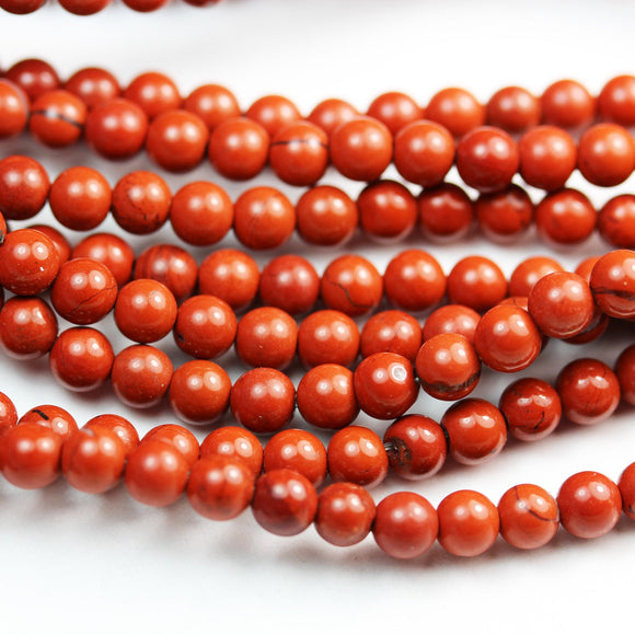 Red Jasper, 4mm Gemstone Beads Strand, One full strand ,About 100 beads, hole0.6mm-GEM2281