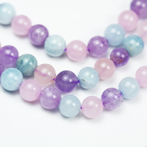 One full strand 6mm round aquamarine,rose quartz,amethyst gemstone, Gemstone beads, hole 0.8mm,16
