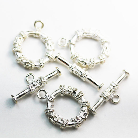 3sets 20mm Clasps Jewellery Findings , Silver plated Brass, Toggle 20mm , Tbar 25mm long, Hole2mm -FDC0353