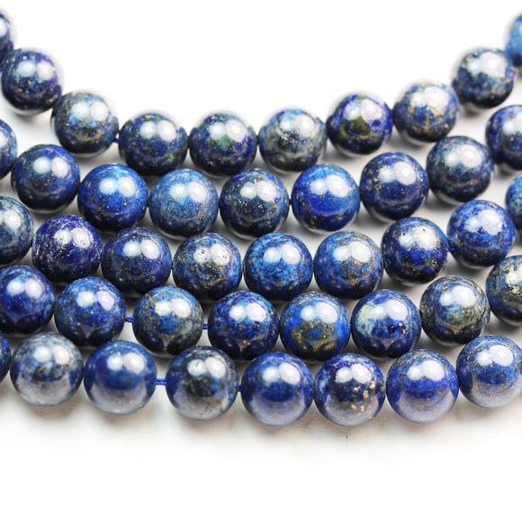 Natural Lapis lazuli, 10mm round natural gemstone, One full strand  , hole 1mm,16