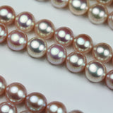 Freshwater Pearl, 8-9mm AAA Half Drilled Rose Half Round , for Making earring/Ring , hole 1mm -PLF8153