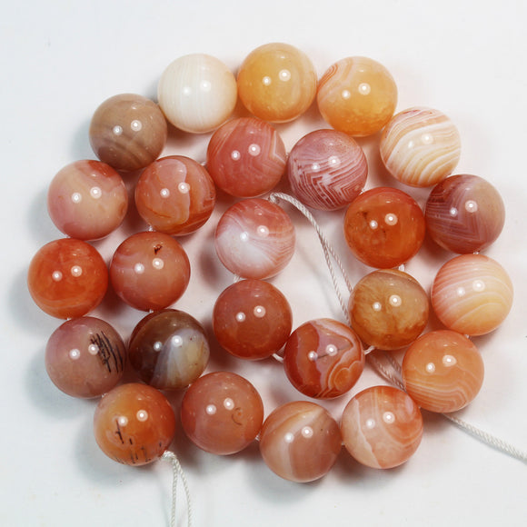 Pink Botswana Agate, 16mm Round Natural Gemstone Beads Strand, 16 inch, about 25beads, 1mm hole -GEM2478