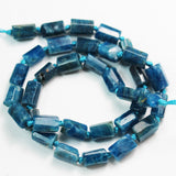Apatite, 11*7mm Tube Gemstone Strand, One full strand  , Green/Blue color, hole 1mm, 16 inch  -GEM2386