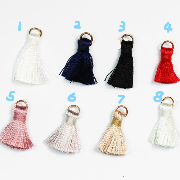 50%off 20 pcs 20mm Silk Cotton Small Lovely  Tassel, Colorful Cotton Tassels Charms,for fashion accessories and home decor - FDB0469