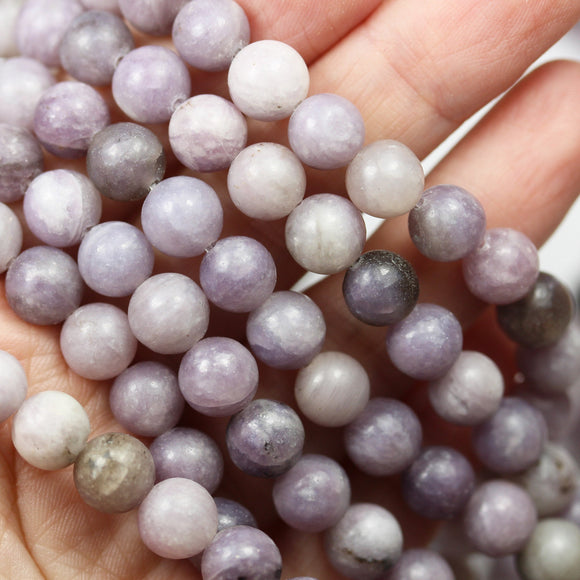 8mm lilac Jasper,Natural Gemstone Beads, Round Shape beads,15.5inch, about50 beads, 1mm hole -GEM2550