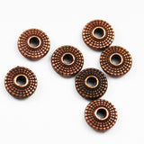 40pcs Jewellery Findings Round Spacers Antique Red Copper Tone, 8mm,3mm thick, 1.5mm hole -FDS0266