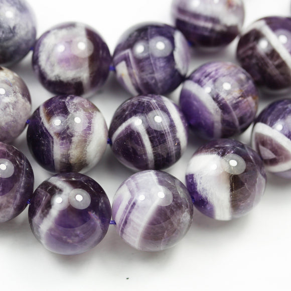 Natural Amethyst,16mm Round Natural Gemstone Beads, One full strand, 16