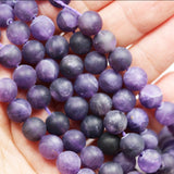 "Matte Amethyst,8mm Round  Gemstone Beads One full strand ,about 50pcs beads , 16""-GEM2637"