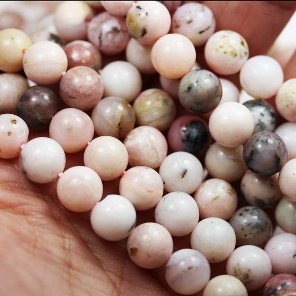 Pink Opal, 8mm Round Gemstone, Full strand Gemstone Beads,16