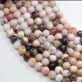 "Pink Opal, 8mm Round Gemstone, Full strand Gemstone Beads,16"", 1mm hole-GEM2644"