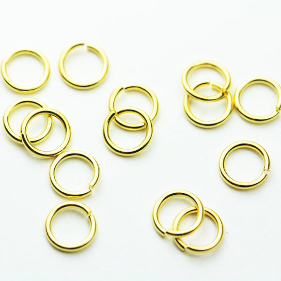 30pcs 22gauge 6mm 24k gold vermeil on 925 s.silver Jewellery findings Jump ring,Close & unsoldered round, - FDGFR0003