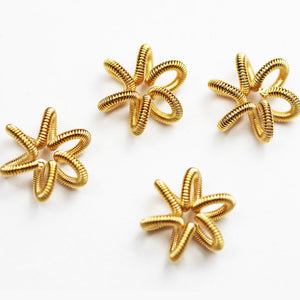 8pcs 15mm Gold Wire  Star Beads, Jewellery findings Beads,Gold plated on Brass -  FDB0479