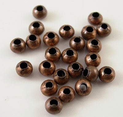 500pcs Jewellery findings Ball Beads Antique Red Copper Tone,2mm hole0.5mm - MECF0052