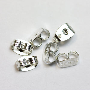20pcs 925 Sterling Silver Earnuts Jewellery Findings , 5x6x2.5mm-FDSSE0010