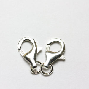 4pcs 11mm S.silver jewellery findings Lobster Clasp,925 Sterling silver,11*5mm with 4mm ring - FDSSCS0006