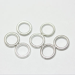 100pcs 6mm Closed Jump Ring Jewellery findings,Close & soldered round, Silver plated, 1mm thick - FDR0024