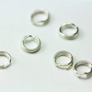 20pcs 4mm 925 Sterling silver Jewellery findings Split ring,Close but Unsoldered round,   - FDSSR0010