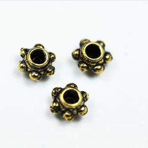 60pcs Jewellery Findings Daisy Spacers Antique Brass Tone, 5.5mm Diameter,4mm thick, 1.5mm hole - FDS0171