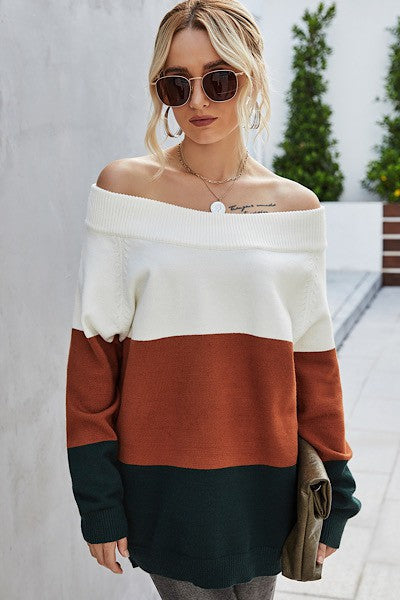 Oaklee Off The Shoulder Sweater
