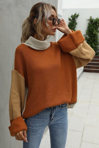 Chloe Color-block Turtleneck