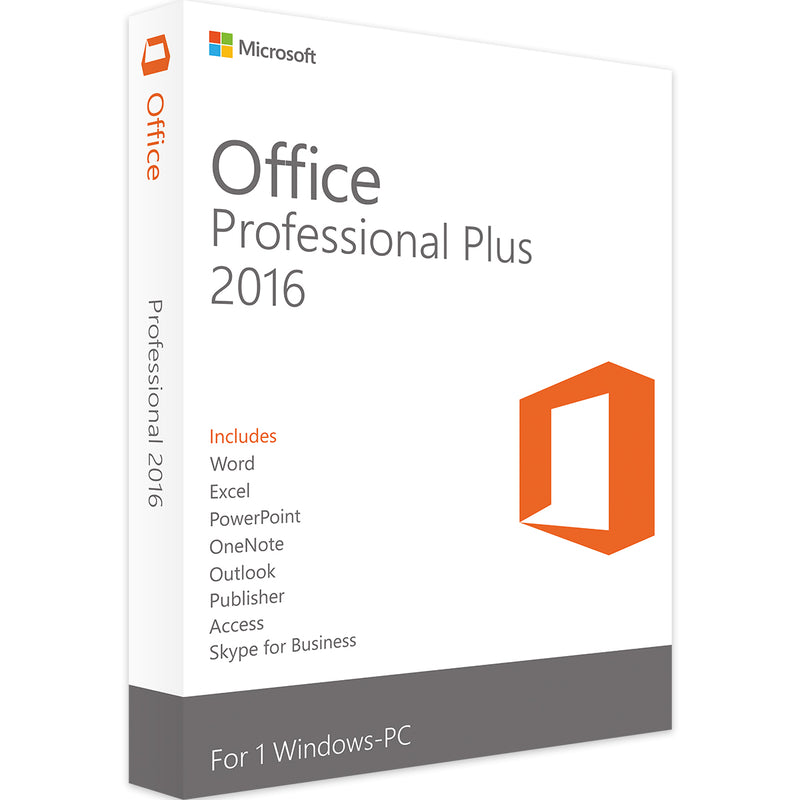 Microsoft Office Professional Plus 2016 5PC