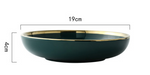 Green Ceramic Gold Inlay Tableware - OrderConcept