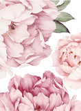 PINK PEONY FLOWERS STICKERS - OrderConcept