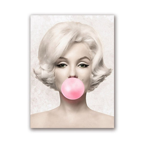 Marilyn Monroe Bubble Gum Canvas