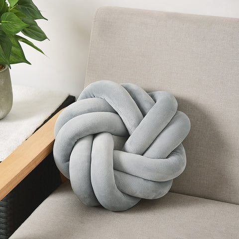 Nordic Knotted Ball Cushion - OrderConcept