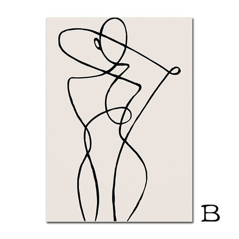 Abstract Woman Line Drawing - OrderConcept