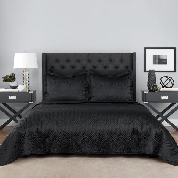 Black Lionel Richie Home Coverlet Set