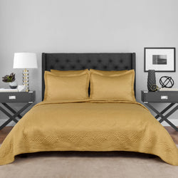 Gold Lionel Richie Home Collection Coverlet Set