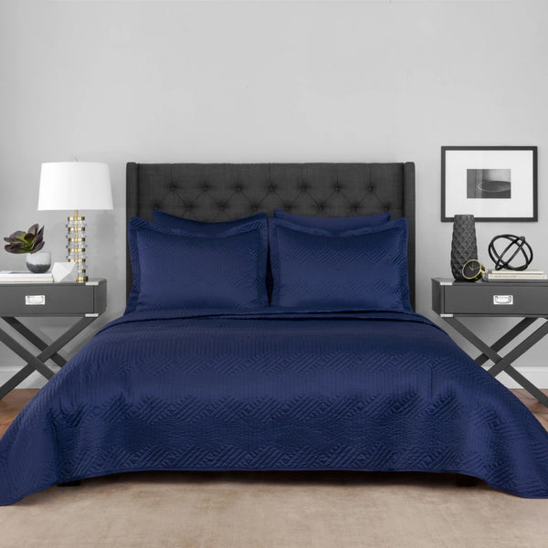 Navy Lionel Richie Home Coverlet Set