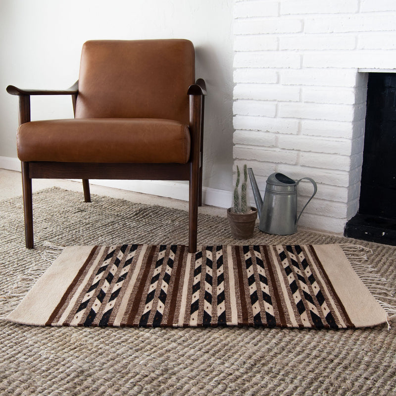 Native American Rug with Arrows Design