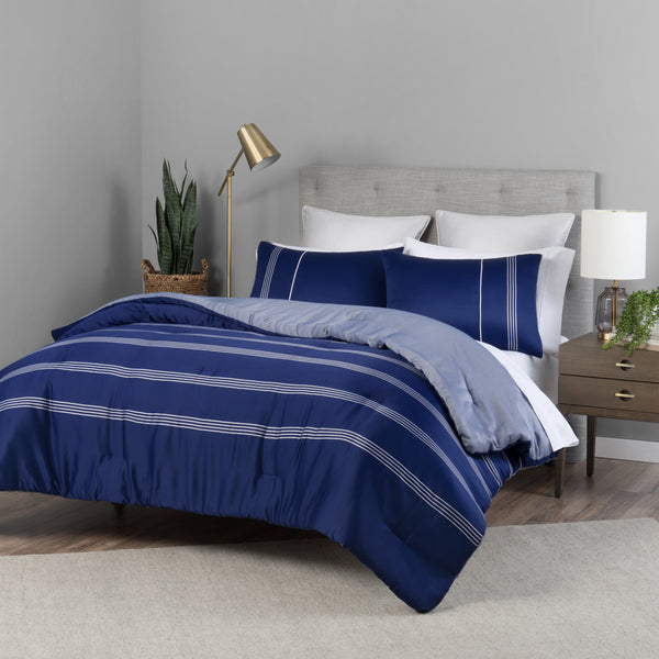Navy Lionel Richie Home Comforter Set