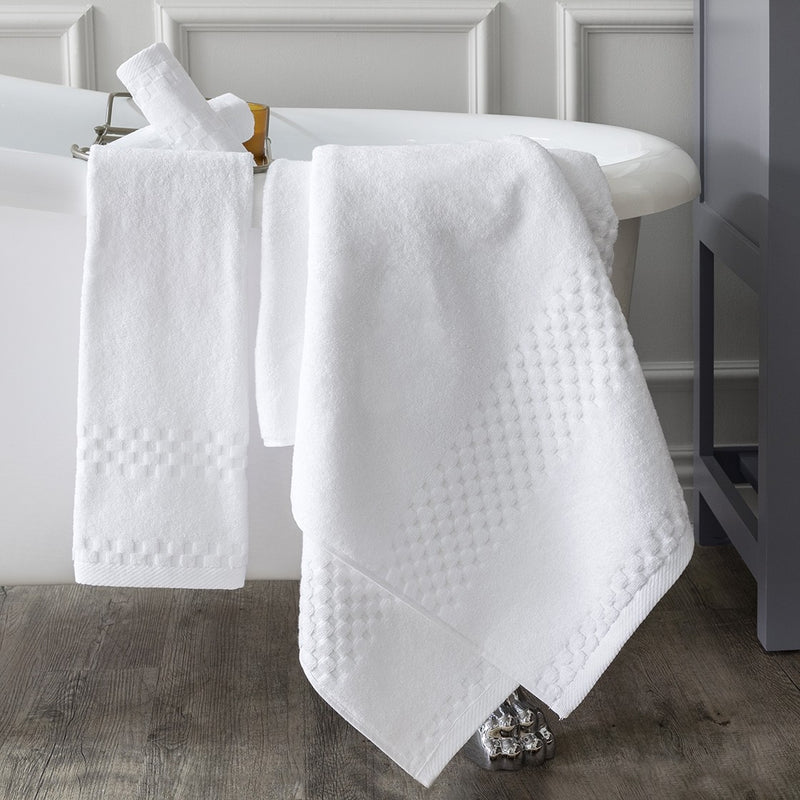 4 Piece Bellazure III Checker Dobby Towel Set