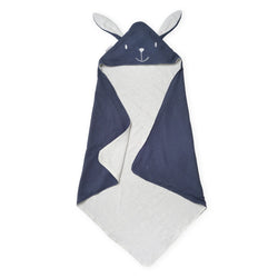 Pure Elegance Blue Tetra Cotton Kids Hooded Towel