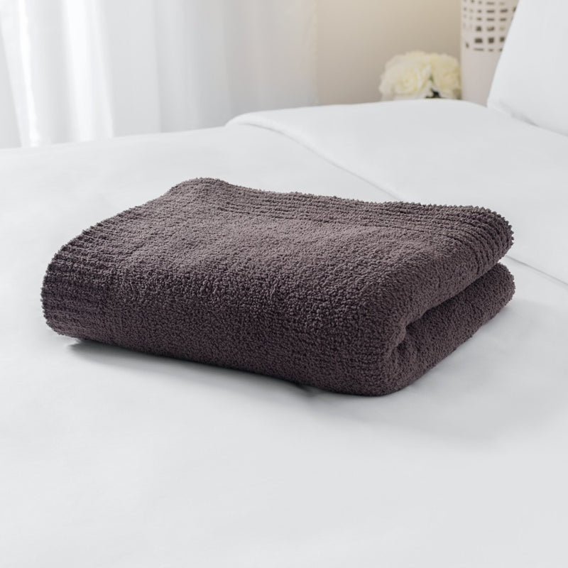 Spa Chenille Microfiber Throw Blanket